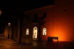 Manufee y su peña: Plaza de la constitució, Ayuntament Vell, Sant Francisco Formentera